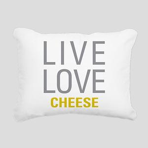 Live Love Cheese Rectangular Canvas Pillow