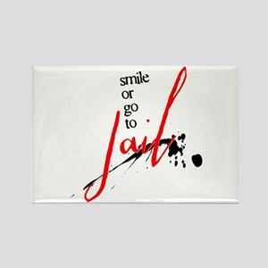 Smile or Go to Jail Rectangle Magnet