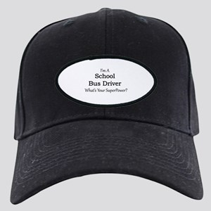 School Bus Driver Black Cap