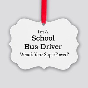 School Bus Driver Picture Ornament