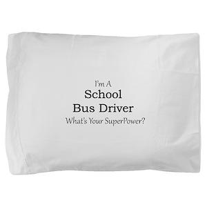 School Bus Driver Pillow Sham