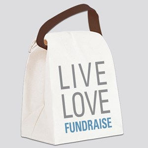 Live Love Fundraise Canvas Lunch Bag