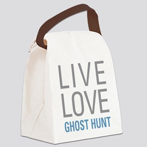 Live Love Ghost Hunt Canvas Lunch Bag
