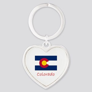 Flag And Name Heart Keychain