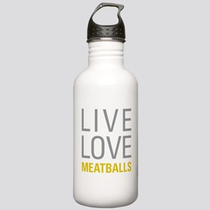 Live Love Meatballs Stainless Water Bottle 1.0L