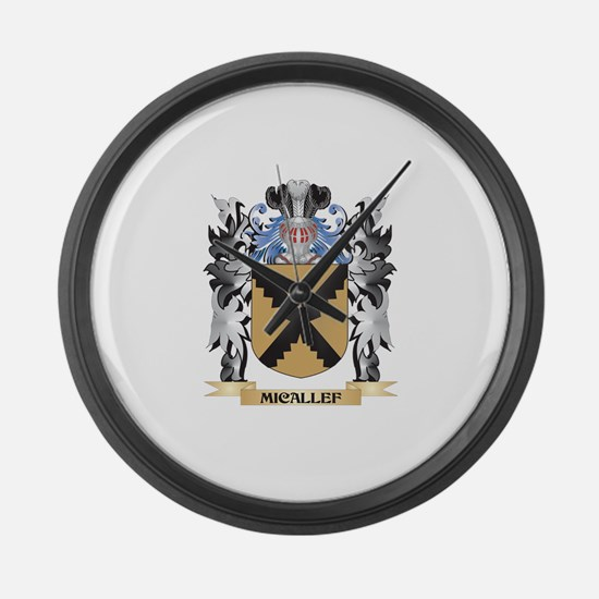 Micallef Coat of Arms - Family Cr Large Wall Clock