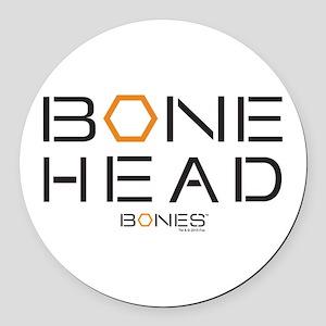 Bones Bone Head Round Car Magnet