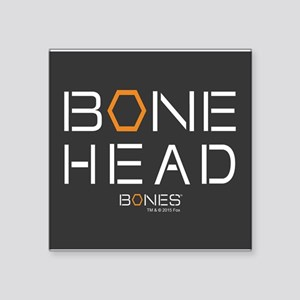 "Bones Bone Head Square Sticker 3"" x 3"""