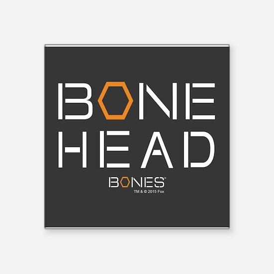 "Bones Bone Head Square Sticker 3"" x 3"""