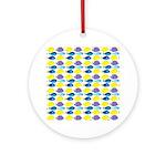 unicornfish tang surgeonfish pattern Round Ornamen