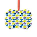 unicornfish tang surgeonfish pattern Ornament