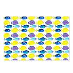 unicornfish tang surgeonfish pattern Postcards (Pa