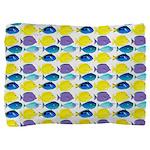 unicornfish tang surgeonfish pattern Pillow Sham