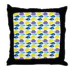 unicornfish tang surgeonfish pattern Throw Pillow