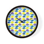 unicornfish tang surgeonfish pattern Wall Clock