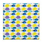 unicornfish tang surgeonfish pattern Tile Coaster