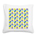 unicornfish tang surgeonfish pattern Square Canvas