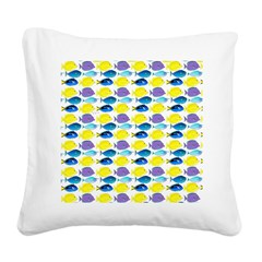 unicornfish tang surgeonfish pattern Square Canvas