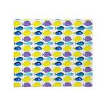 unicornfish tang surgeonfish pattern Throw Blanket