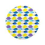 unicornfish tang surgeonfish pattern Button