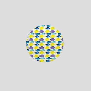 unicornfish tang surgeonfish pattern Mini Button