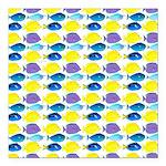 unicornfish tang surgeonfish pattern Square Car Ma