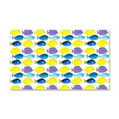 unicornfish tang surgeonfish pattern Car Magnet 20