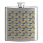 unicornfish tang surgeonfish pattern Flask