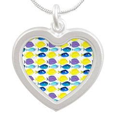 unicornfish tang surgeonfish pattern Necklaces