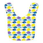 unicornfish tang surgeonfish pattern Bib