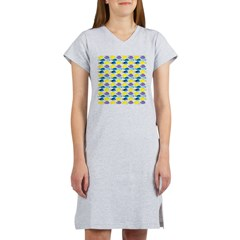 unicornfish tang surgeonfish pattern Women's Night