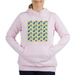 unicornfish tang surgeonfish pattern Women's Hoode