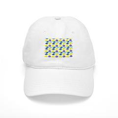 unicornfish tang surgeonfish pattern Baseball Baseball Cap