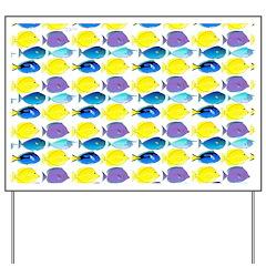 unicornfish tang surgeonfish pattern Yard Sign