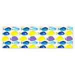 unicornfish tang surgeonfish pattern Bumper Sticke