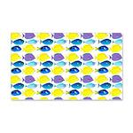 unicornfish tang surgeonfish pattern Wall Decal