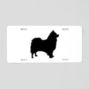 icelandic sheepdog silhouette Aluminum License Pla