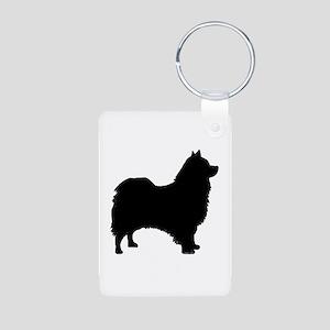 icelandic sheepdog silhouette Keychains