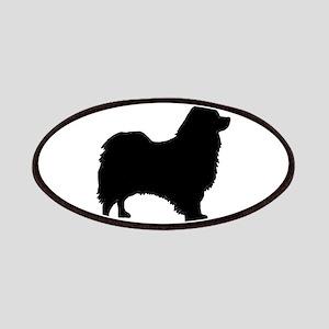icelandic sheepdog silhouette Patch
