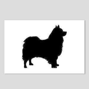 icelandic sheepdog silhouette Postcards (Package o