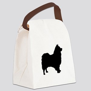 icelandic sheepdog silhouette Canvas Lunch Bag