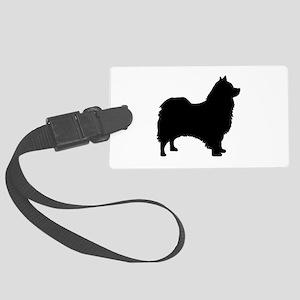 icelandic sheepdog silhouette Luggage Tag
