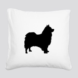 icelandic sheepdog silhouette Square Canvas Pillow