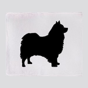 icelandic sheepdog silhouette Throw Blanket