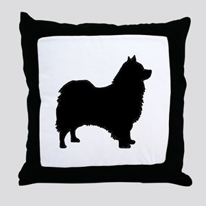 icelandic sheepdog silhouette Throw Pillow