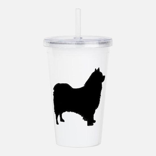 icelandic sheepdog silhouette Acrylic Double-wall