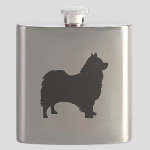 icelandic sheepdog silhouette Flask