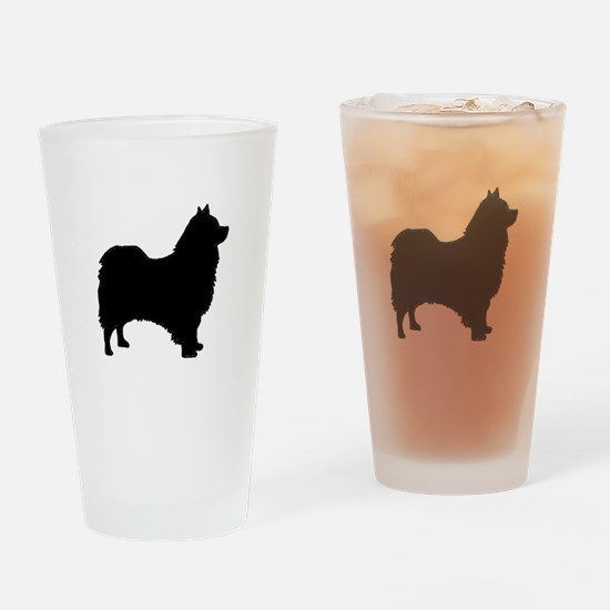 icelandic sheepdog silhouette Drinking Glass