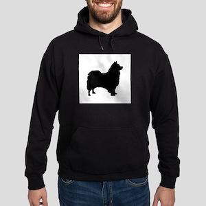 icelandic sheepdog silhouette Hoodie