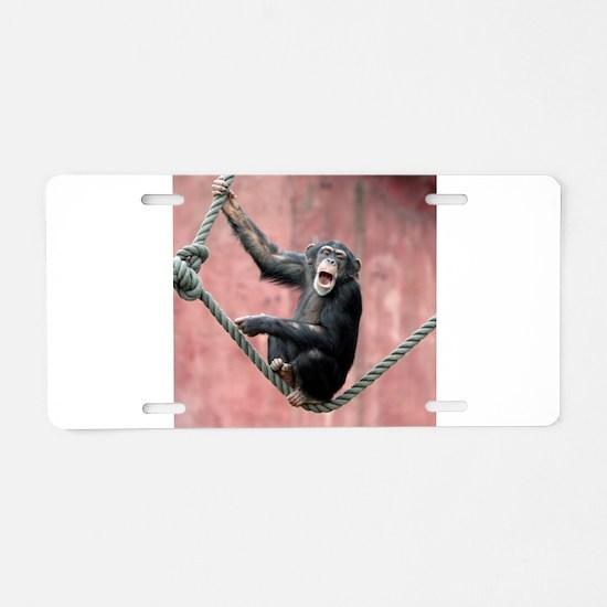 Chimpanzee001 Aluminum License Plate